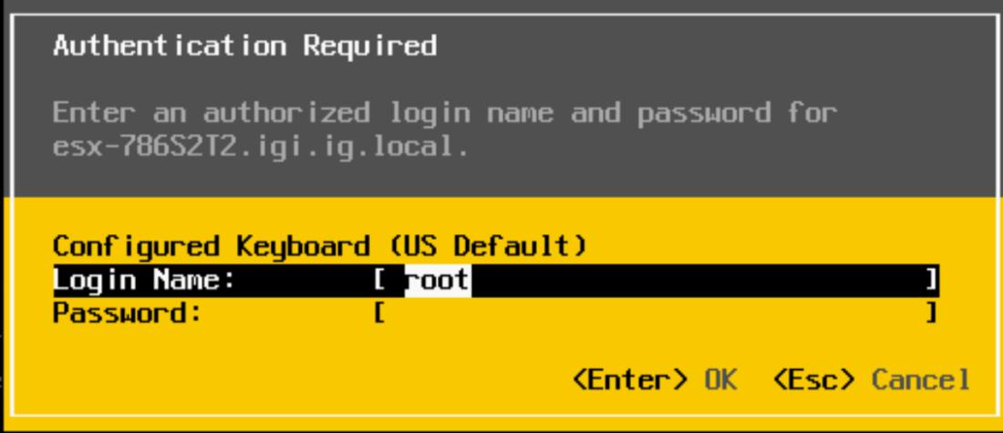 Setting up an ESXi host through the DCUI – Virtual Building Blocks
